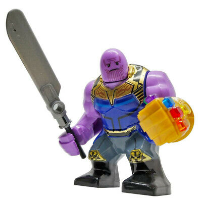 Thanos & Infinity Gauntlet - Marvel End Game Lego Moc Minifigure Gift For Kids