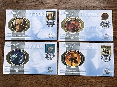Gb Benham Fdc 2000 MIND AND MATTER set Of 4 Mint Condition