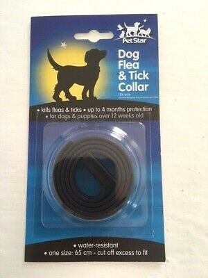 Flea and tick collar for Dogs.  Repels fleas and ticks.Up to 4 months protection