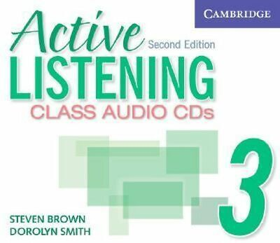 NEW Active Listening 3 Class Audio CDs By Steve Brown Audio CD Free Shipping