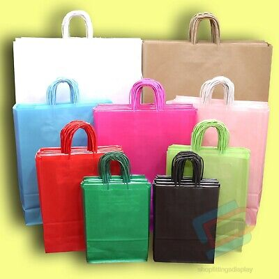 Twist Handle Paper Party and Gift Carrier Bag / Bags With Twisted Handles