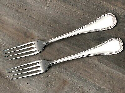 """Malmaison by Christofle France Silverplate pair of Dinner Forks 8 1/8"""""""