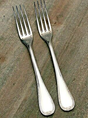 """Malmaison by Christofle France Silverplate pair of Dessert Forks 6.75"""""""