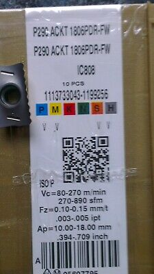 P290 ACKT 1806PDR-FW IC808 ISCAR *** 10 INSERTS *** FACTORY PACK ***