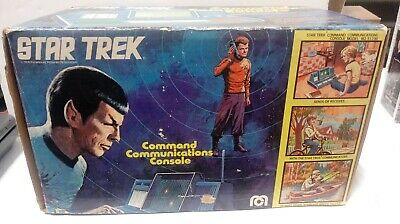 1976 Star Trek Mego Command Communications Console  vintage NRFB 70s used
