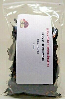 Hibiscus Flowers Whole 1 ounce Hoodoo Witchcraft Pagan Wicca Voodoo Supplies