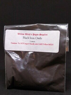 Black Iron Oxide 1 ounce Witchcraft Hoodoo Voodoo Pagan Ritual Supplies Wicca