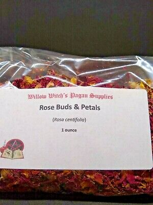 Rose Buds & Petals 1 Ounce Red  Witchcraft Wicca Hoodoo Voodoo Pagan