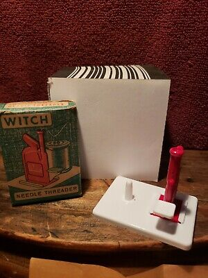 Vintage Witch Needle Threader And Domestic Sewmachines Advertising Threader