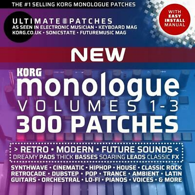 300 KORG MONOLOGUE ULTIMATE PATCHES: Volumes 1-3 Bundle