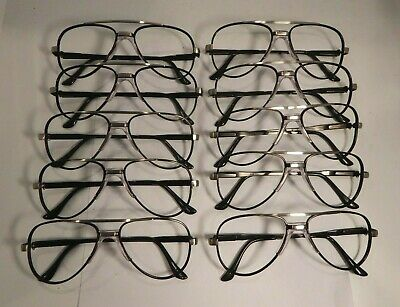Vintage 10 Pc. Lot Elite Jupiter Black 54/20 Eyeglass Frame New Old Stock #S19