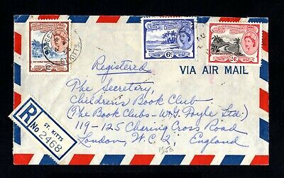 1993-SAINT CHRISTOPHER-AIRMAIL REGISTERED COVER ST.KITS to LONDON (england)1956.
