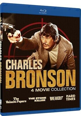 CHARLES BRONSON 4 MOVIE COLLECTION New Blu-ray Hard Times Valachi Stone Killer