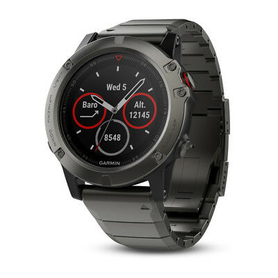 Garmin Fenix 5X Sapphire with Metal Band GPS Multisport Watch - 010-01733-04