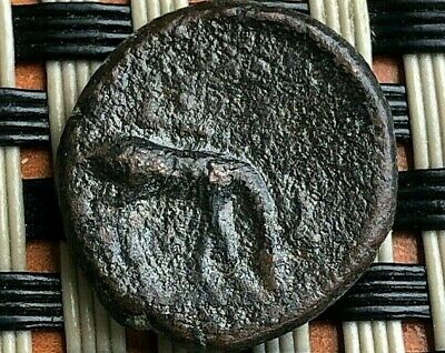 "Ephesos, Ionia 350 Bc Hermagoras Ae16 ""Bee & Stag"" Ancient Greek Bronze Coin"