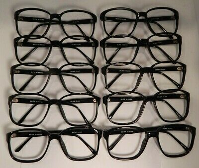Vintage 10 Pc. Lot Elite Richard Black 56/20 Eyeglass Frame New Old Stock #S18