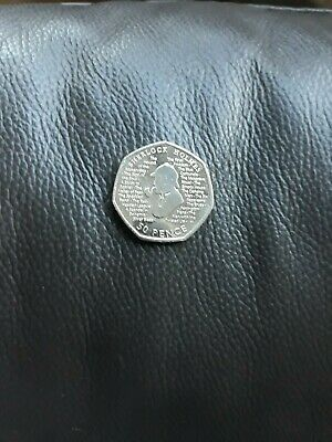 Brand New Uncirculated Sherlock Holmes 50p Coin free postage