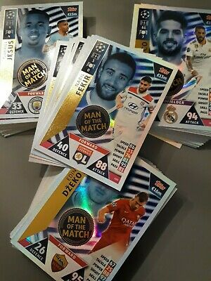 Match Attax Champions League 18/19 bundles of 5 man of the match - You choose