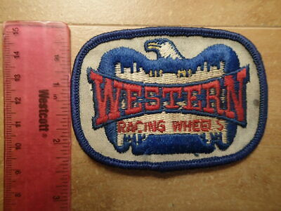Vintage Embroidered Racing Patch-WESTERN RACING WHEELS-Excellent Condition