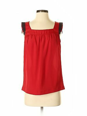 The Limited Women Red Sleeveless Blouse Xs