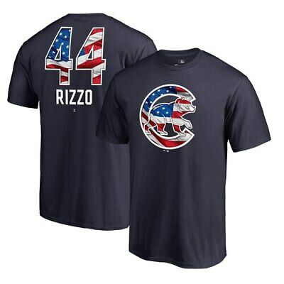 meet a0137 ce771 Anthony Rizzo Chicago Cubs Fanatics Branded 2019 Stars   Stripes Banner Wave