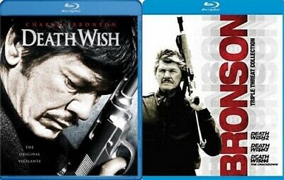 DEATH WISH 1 2 3 4 New Sealed Blu-ray Charles Bronson
