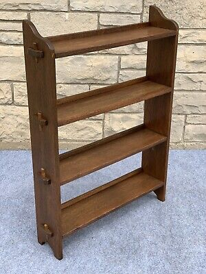 Arts & Crafts Mission Style Quartersawn Oak 4 Shelf Pegged Bookcase - 37""