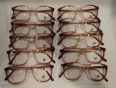 Vintage 10 Pc. Lot Elite Senior Brn Fade 50/20 Eyeglass Frame New Old Stock #S19