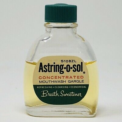 Vtg 1964 Astring-O-Sol Mouthwash Concentrate 1/2 Oz