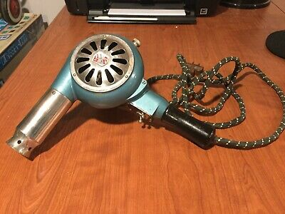 Vintage Hair Dryer, Deluxe General, Blue, Chrome, Mod 12016 Master Appliance
