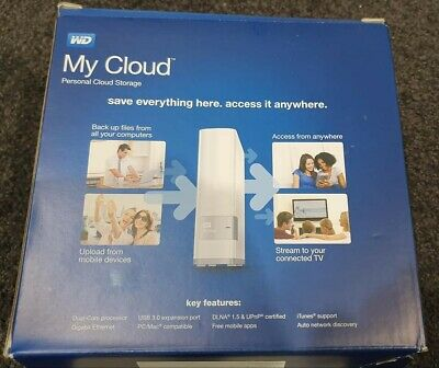WD My Cloud 4TB Personal Cloud Storage, WiFi, Stream and Access On the Internet