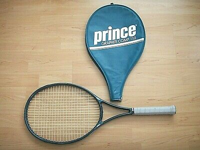 Prince Graphite Comp Series 110 Strung Tennis Racquet New Grip + Cover 4-1/2 L4
