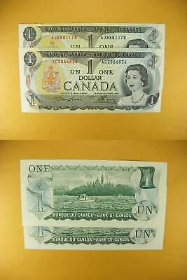 3349 Canada Lot of 2 1973 $1 GemUNC