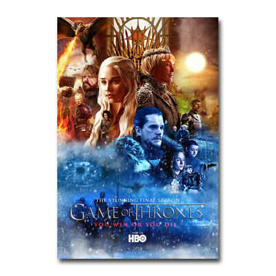 Game of thrones Movie 2 Art Silk Canvas Poster Print 13x20 24x36 inch Home Decor