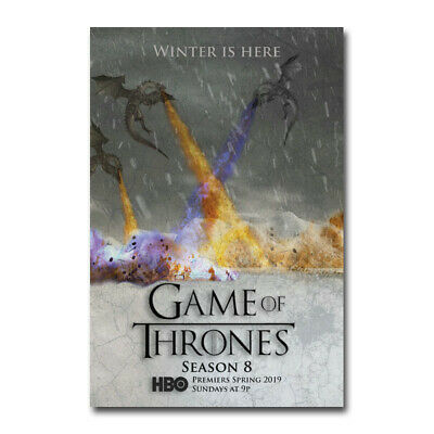 Game of Thrones Season 8 Movie Silk Canvas Poster Print 24x36 inch Home Decor