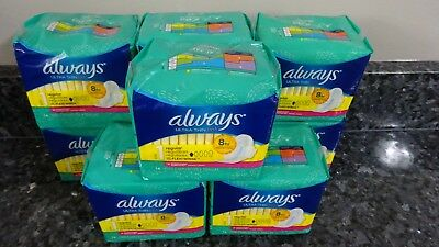 144 Always Ultra Thin Regular Size 1 Pads Clean Scent Flexi-Wings 9 packs of 16