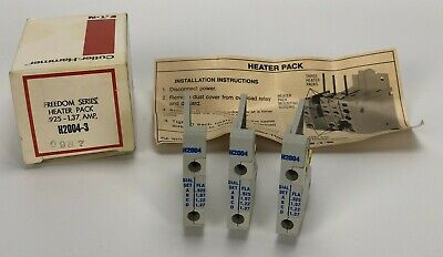 (3) New Cutler Hammer Eaton .925 - 1.37 Amp Freedom Series Heater Pack H2004-3
