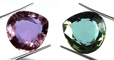 Russian 16.80 Ct Color Changing Alexandrite Gemstone Pear Cut Certified K2742