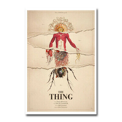 The Thing Classic Horror Movie Silk Canvas Poster Shop Room Decal Print 24x36''