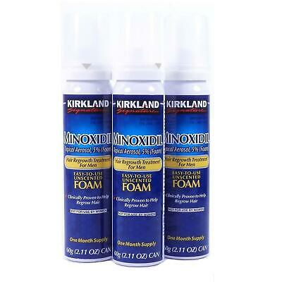 Kirkland Minoxidil Hair Loss Regrowth Treatment Topical Foam 3-month Mens DEALS