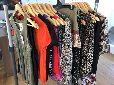 18 Pieces Womens Clothes Bundle FCUK, Mango, Kookai, Cotton On Etc Size S M 10