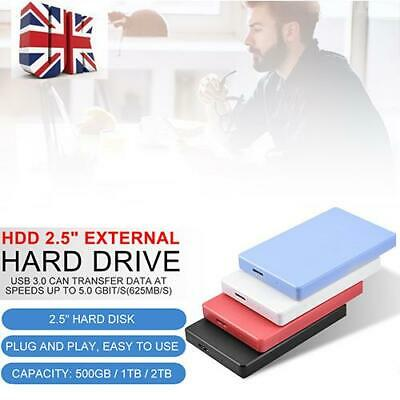 "2.5""External Hard Drive USB3.0 SATA3.0 500G 1TB 2TB Mobile Solid State Hard UK"
