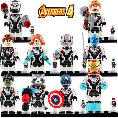Marvel Avengers End Game - War Machine Hawkeye Thor Custom Lego Moc Minifigures