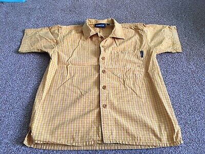 Boys 4-5 years H&M Dubster Yellow Checked Short Sleeve Shirt