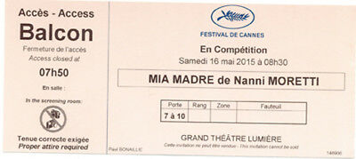 Ticket billet collector Mia Madre de/ by Nanni Moretti  Cannes Film Festival