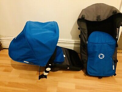 bugaboo cameleon Canvas Fabric set Royal Blue Canopy Seat Cover And Bassinet