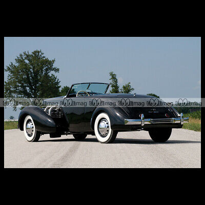 #pha.025679 Photo CORD 812 SUPERCHARGED CONVERTIBLE COUPE 1937 Car Auto