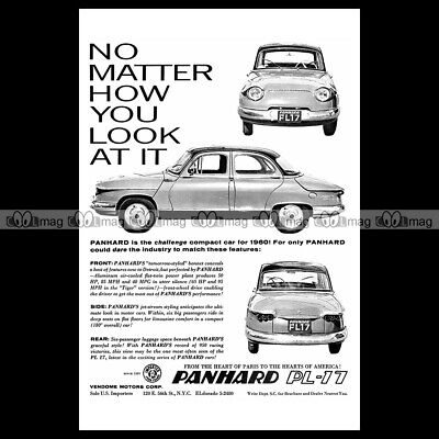 #phpb.001997 Photo PANHARD PL 17 1960 Advert Reprint