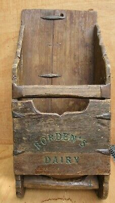 Antique Wood Feed Scoop Borden's Dairy Primitive