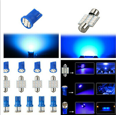 Car Interior LED Lights For Dome License Plate Lamp 12V Kit Accessories 13 PCS